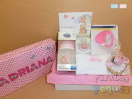 Canastilla bordada babies rosa
