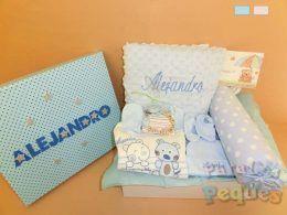 Canasta de bebé Besitos azul Alejandro