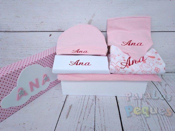 Caja regalo para bebe Peques rosa