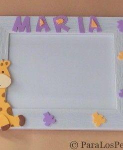 Marco fotos girafa personalizado bebe paralospeques