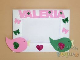 Marco fotos pio personalizado rosa bebe paralospeques