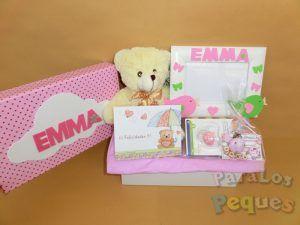 Caja regalo para bebe Pequemarco rosa