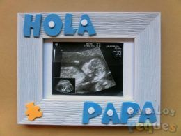 Cuadro ecografía Hola Papa azul ParaLosPeques