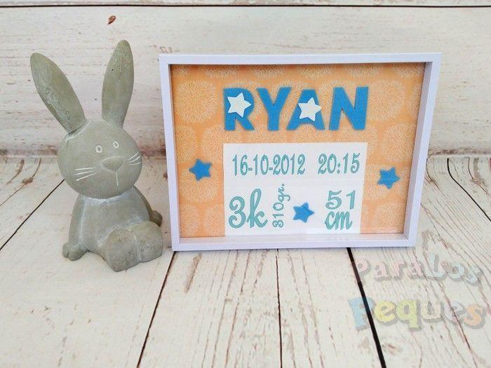 Cuadro nacimiento estrella bebe personalizado Ryan