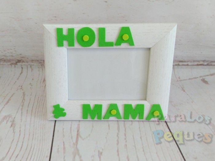 Cuadro ecografía Hola mama verde ParaLosPeques
