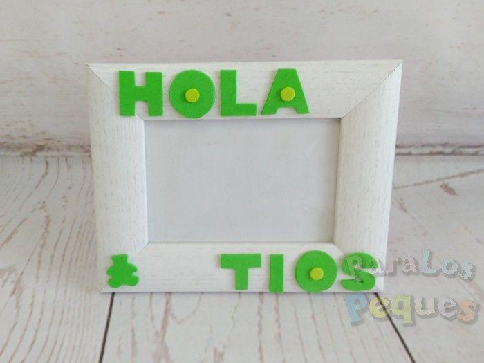 Cuadro ecografía Hola Tios verde ParaLosPeques
