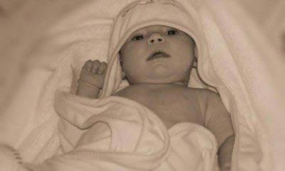 El baño del bebé cuando hace frío