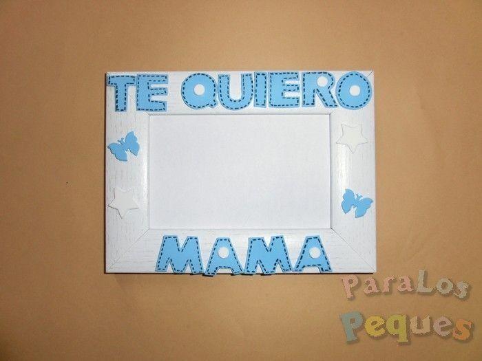 Regalo dia de la madre - Te quiero mama azul