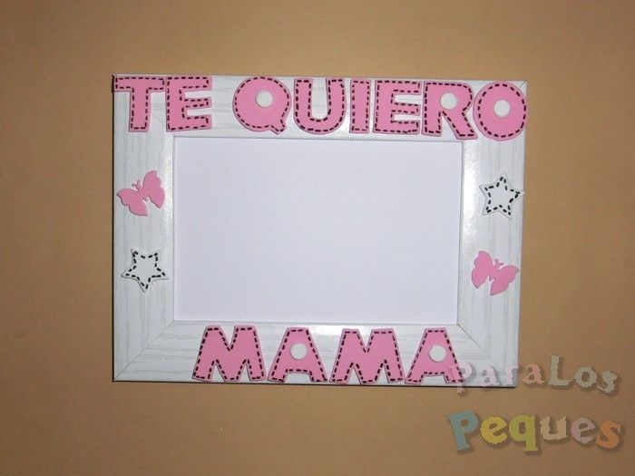 Regalo dia de la madre - Marco te quiero rosa