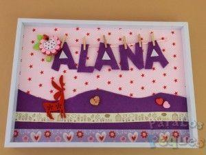 Cuadro infantil Personalizado con el nombre Violeta