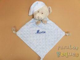 DouDou azul bordado para bebe