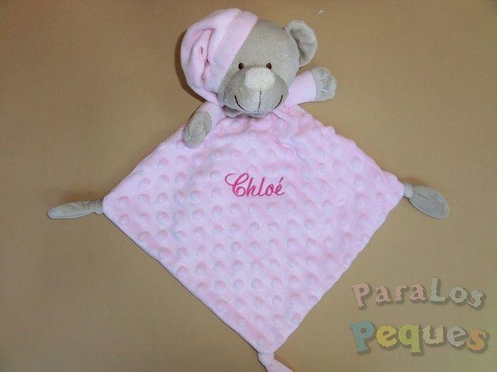 DouDou rosa bordado para bebe