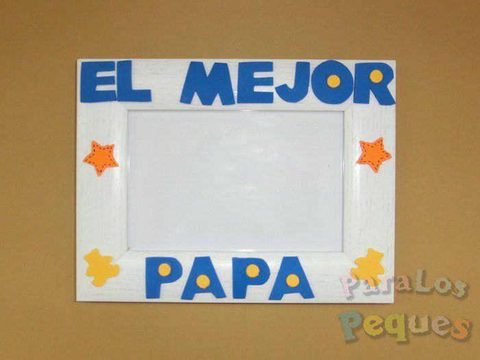 regalo para papa marco de fotos el mejor papa color azul