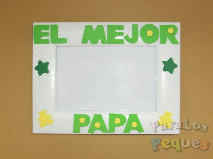regalo para papa marco de fotos el mejor papa color verde