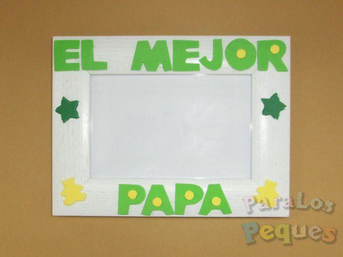 Marco fotos papa. Comprar regalos papa. El mejor papa - ParaLosPeques