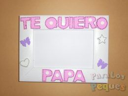 Marco de fotos Te quiero papa en rosa