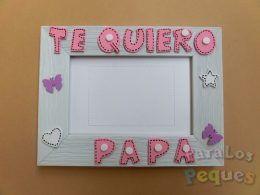 Marco de fotos Te quiero papa rosa