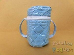 Portachupetes bebe azul