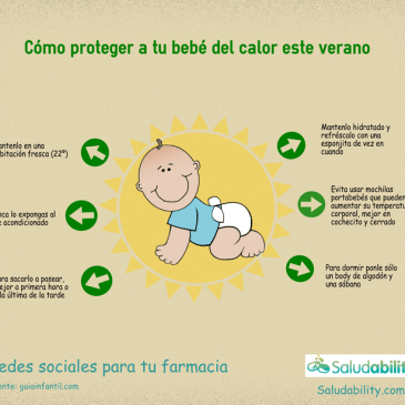 Proteger al bebé del calor