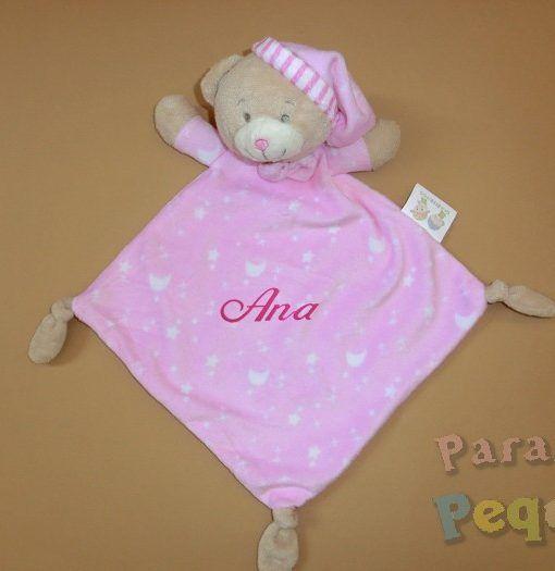 DouDou estrellas rosa bordado para bebe