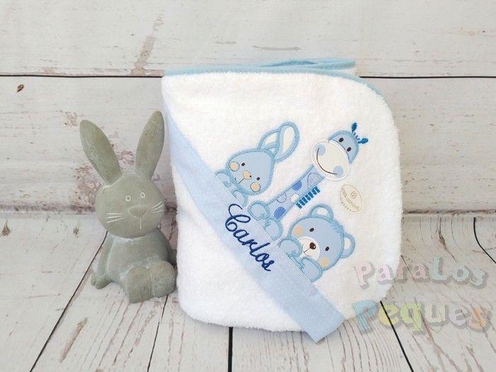 Capas de baño bordadas para bebe