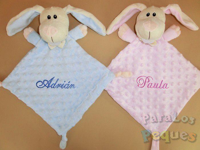 DouDou conejitos bordado para bebe
