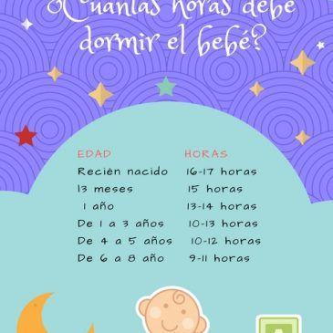 ¿Cuantas horas debe dormir tu bebe?
