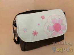 Bolso para carrito bebe flor rosa