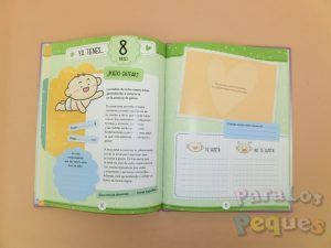 Detalle interior Libro recuerdos El libro del bebé. Nuestro primer año juntos
