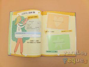 Detalle interior 2 Libro recuerdos El libro del bebé. Nuestro primer año juntos