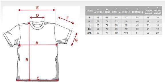 Medidas para decidir talla camiseta