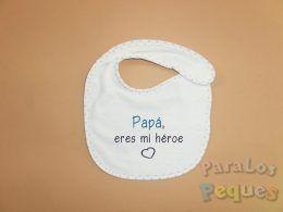 Detalles dia del padre. babero-heroe