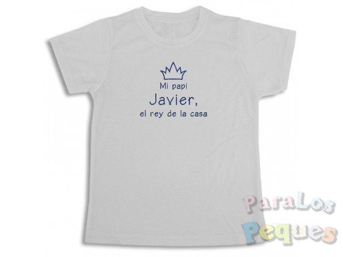 Regalo papa - Camiseta Mi papi el rey de la casa