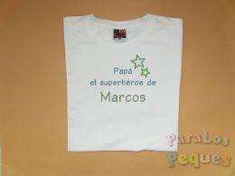 Regalos personalizados para papa. camiseta-superheroe2