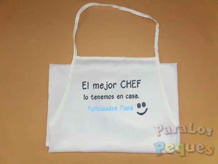 Regalo personalizado dia del padre. delantal-chef2