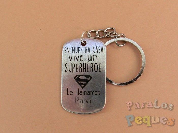 Regalo papa - Llavero papa superhéroe