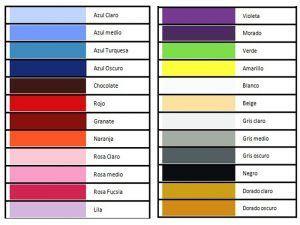 Guía colores bordado