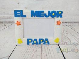 regalo para papa marco de fotos el mejor papa color azul oscuro